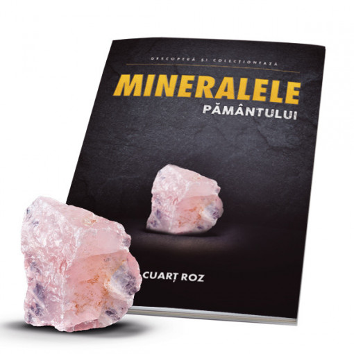 Editia nr. 02 - Cuart roz (cuart roz + revista) (Mineralele Pamantului)