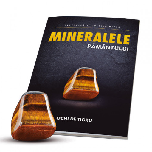 Editia nr. 03 - Ochi de Tigru (ochi de tigru + revista + cutie de colectie minerale)