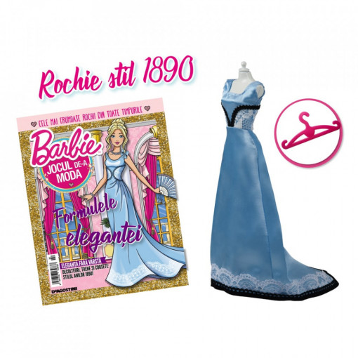 Editia nr. 22 - Rochie stil 1890 (Barbie, jocul de-a moda)