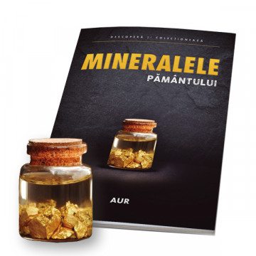 Editia nr. 01 - Sticluta de aur (sticluta de aur + revista) (Mineralele Pamantului)
