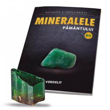 Editia nr. 60 - Verdelit șlefuit (Mineralele Pamantului)