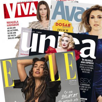 Pachet 4 reviste - Unica + Viva! + ELLE + Avantaje aprilie 2020