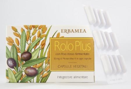 Capsule vegetali Rolo Plus per il colesterolo alto - Erbamea immagini