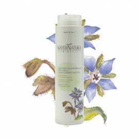 Shampoo alla Borragine per capelli trattati - MaterNatura immagini