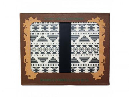 Snack Box Aztec White Black - Woodway immagini