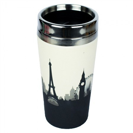"Thermos in Bamboo ""Take away"" Cosmopolitan - Woodway immagini"
