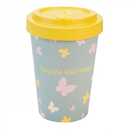 Tazza Bamboo Cup butterflies - Woodway immagini