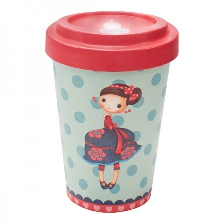 Tazza Bamboo Cup Cherries - Woodway immagini