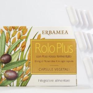 Capsule vegetali Rolo Plus per il colesterolo alto - Erbamea