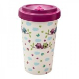 Tazza Bamboo Owls purple - Woodway