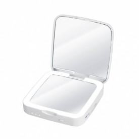Oglinda cosmetica LED compacta, cu baterie externa Silk'n Power Mirror