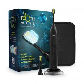 Periuta de dinti electrica cu tehnologie DentalRF Silk'n ToothWave Black, eliminare tartru