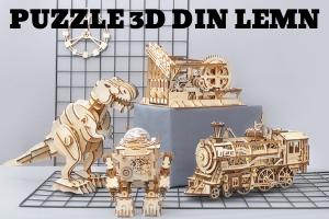 puzzle 3d din lemn FunFox
