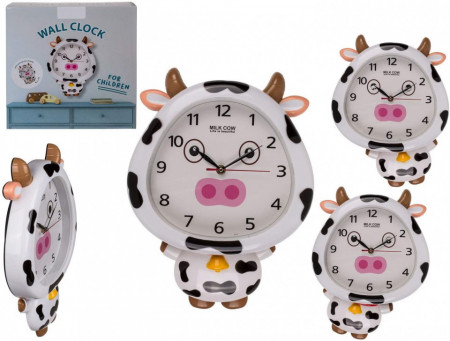 Ceas de perete pentru copii Vacuta profil si cutie