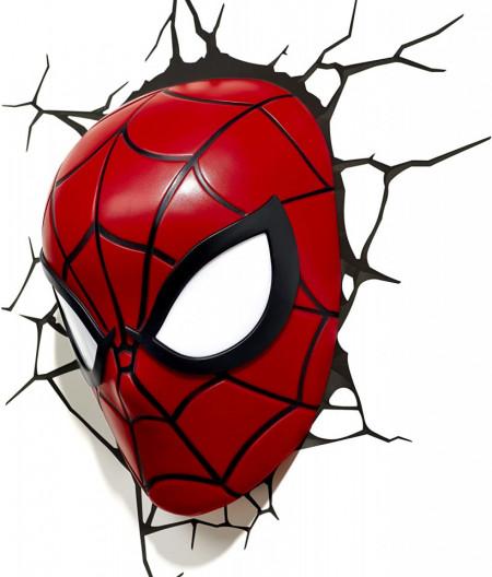 Lampa 3D Philips Spiderman pe perete 2