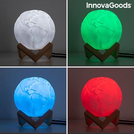 Lampa Glob Pamantesc 3D in culori alb verde rosu albastru