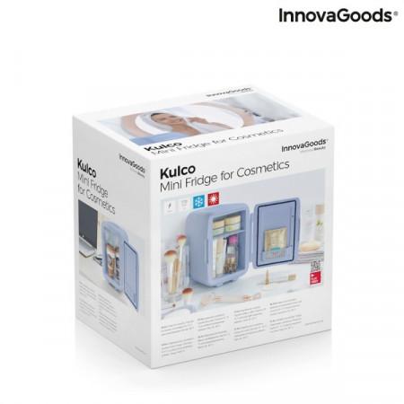 Mini frigider pentru cosmetice bleu in cutie