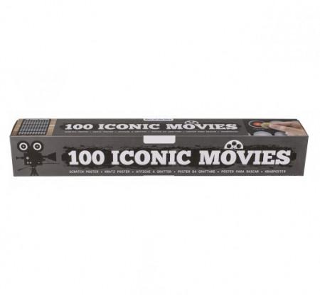Poster razuibil 100 filme celebre in cutie cadou