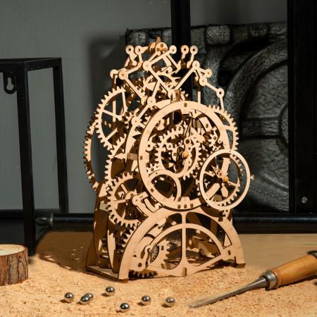 puzzle 3d din lemn ceas cu pendul 3
