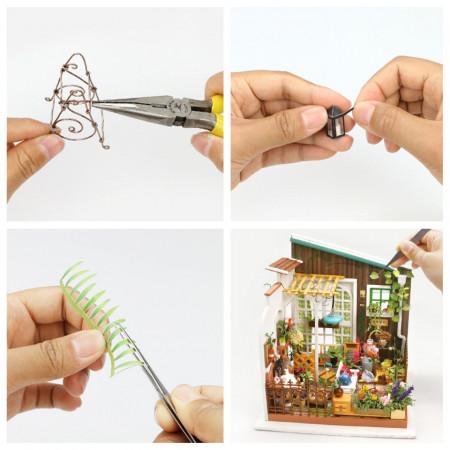 Puzzle 3D lemn Gradina de vara detalii