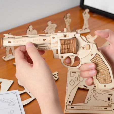 Puzzle 3D lemn Pistol 3