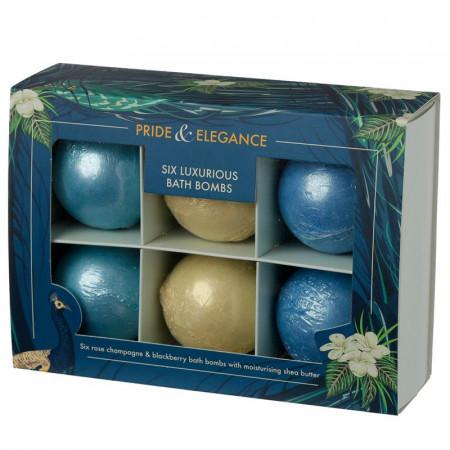 Set cadou 6 bile efervescente pentru baie Luxury in cutie cadou