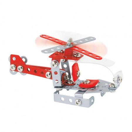 Set constructie Elicopter Helios, 96 piese rosu