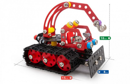 Set constructie Tractor de zapada Nordic, 215 piese dimensiuni