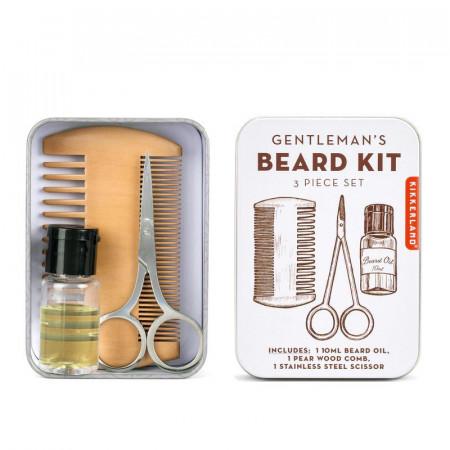 Set ingrijire barba in cutie metalica