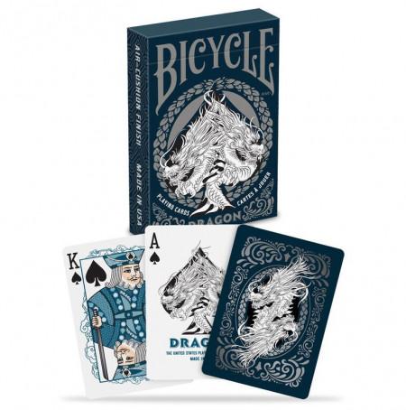 carti de joc bicycle dragon albastru