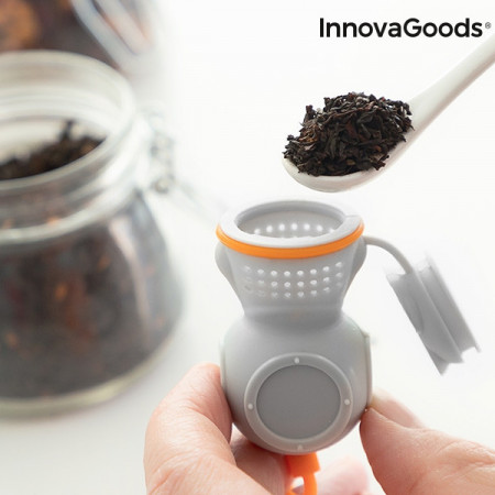 infuzor de ceai scafandru gri cu tub de oxigen 4