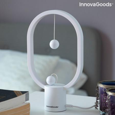 Lampa heng balance pe noptiera cu intrerupator bile magnetice