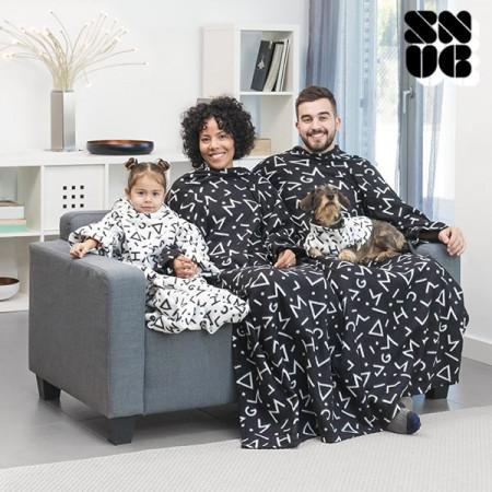patura cu maneci alba pentru copii