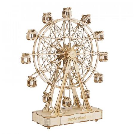 Puzzle 3D din lemn cutie muzicala Ferris Wheel