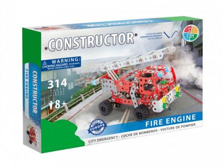 Set constructie Masina de pompieri Fire Engine, 314 piese in cutie