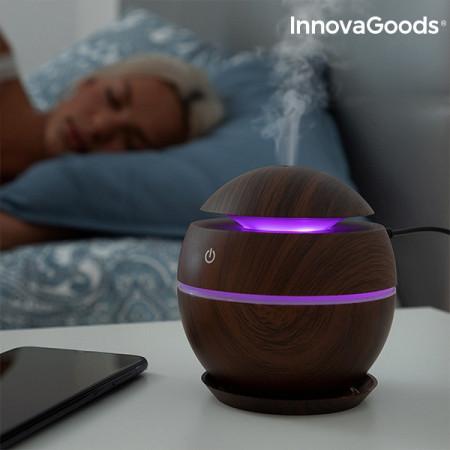 Umidificator si difuzor aromaterapie Walnut LED mov