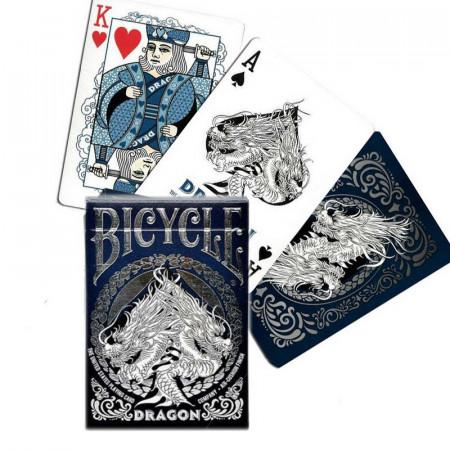 carti de joc bicycle dragon albastru 1