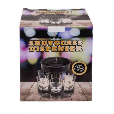 Dispenser pentru shoturi cu 6 pahare in cutie
