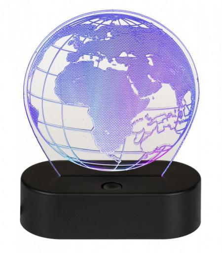 Lampa 3D glob pamantesc lila
