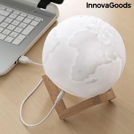 Lampa Glob Pamantesc 3D in culori pe birou