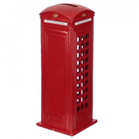 Pusculita cabina telefonica rosie Londra din spate