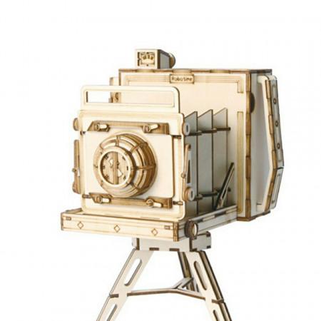 Puzzle 3D din lemn Vintage Camera