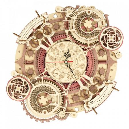 Puzzle 3D lemn Ceas cu calendar Zodiac