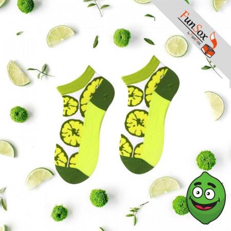 sosete colorate alb verde cu lime