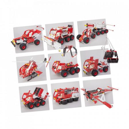 Set constructie Camion Premium 10 in 1 Pro, 1141 piese versiuni modele