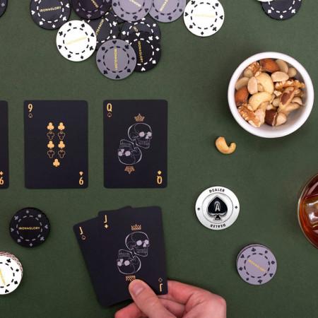 Set poker Deluxe carti si jetoane