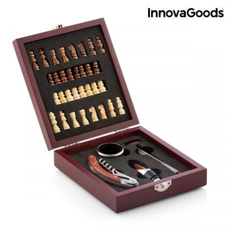 set sah din lemn si accesorii pentru vin 5
