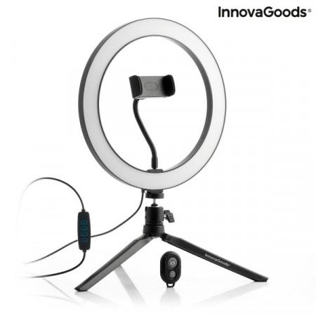 Kit Vlogging cu trepied iluminare LED, suport telefon si telecomanda 6