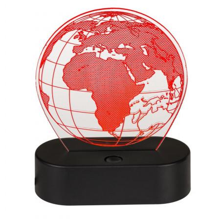 Lampa 3D glob pamantesc rosu