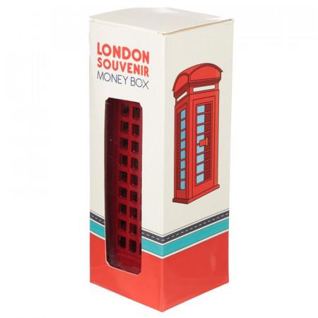 Pusculita cabina telefonica rosie Londra in cutie